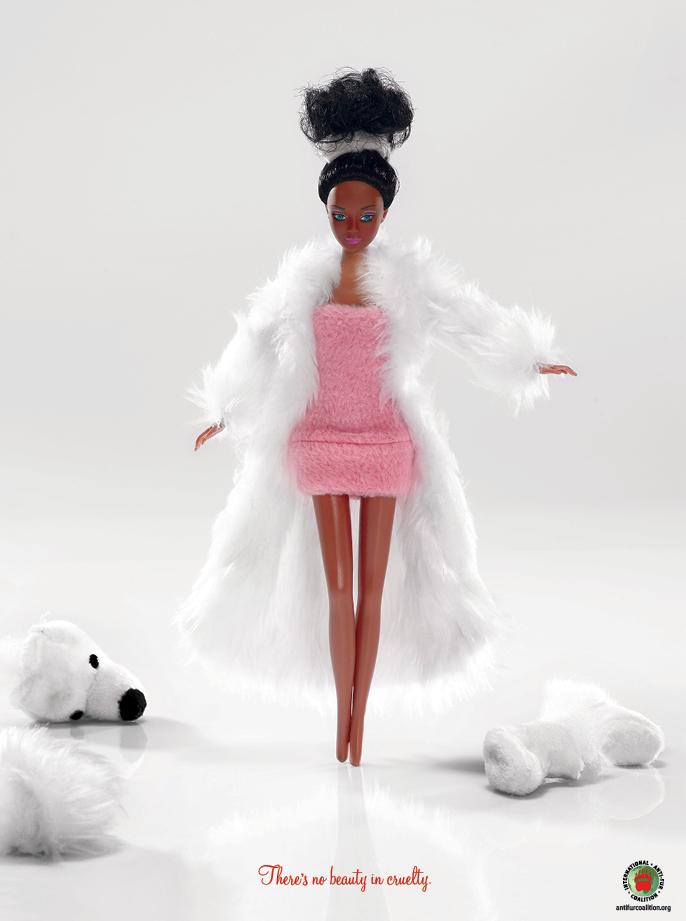 Anti-Fur-Coalition-fourrure-La nouvelle collection automne/hiver de barbie
