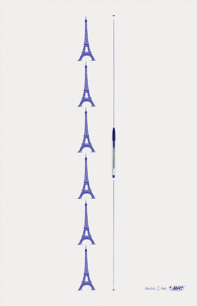 Bic-Tour-Eiffel-2km d'écriture