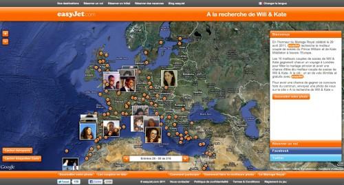 Carte des sosies d'Easyjet