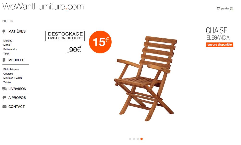 Chaise en teck à 15€, étagère à 25€... vous allez trouver votre bonheur !