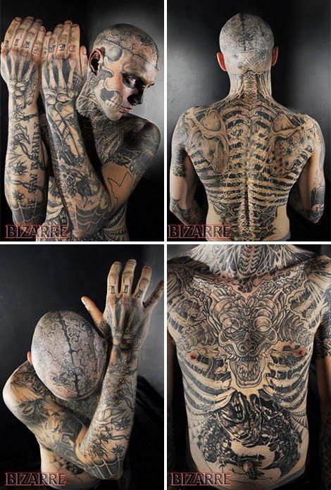L'homme le plus tatoué au monde : Zombie boy