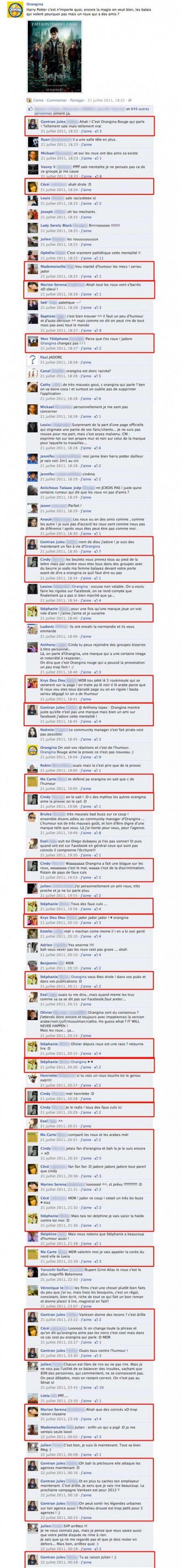 Facebook Orangina