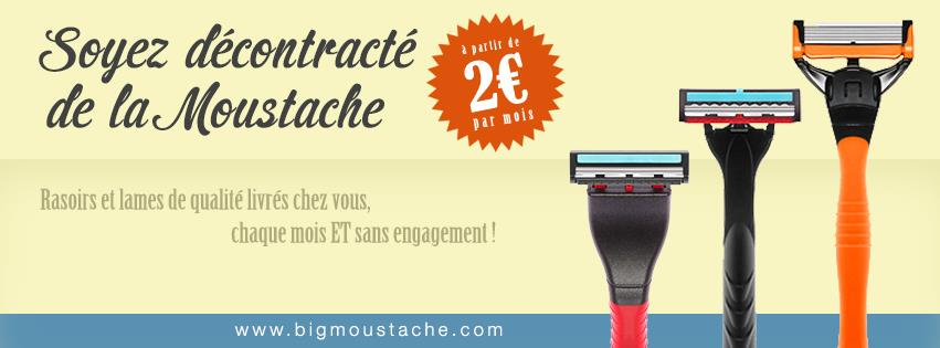 Les rasoirs big moustache, à partir de 2€, livrés chez vous !