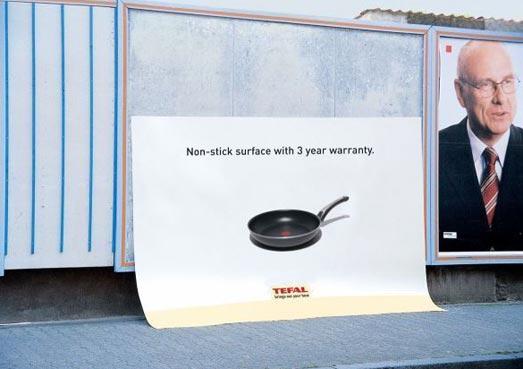 TEfal street marketing