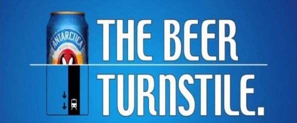 The beer turnstile