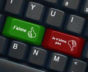 """Touches """"J'AIME"""" et """"JE N'AIME PAS"""" (satisfaction voter bouton)"""