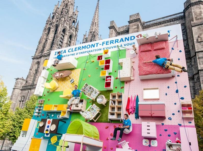 Ikea france installe clermont ferrand un mur d escalade - Ikea clermont ferrand adresse ...