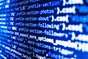 Programming code abstract screen of software developer.